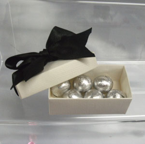 Foil covered chocolate balls