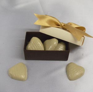 Chocolate hearts wedding confectionery