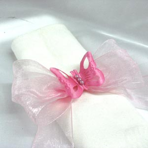 organza around napkin