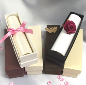 Wedding Scroll Boxes