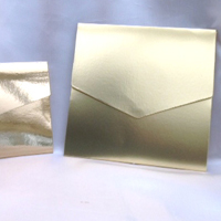 metallic pocketfold invitations